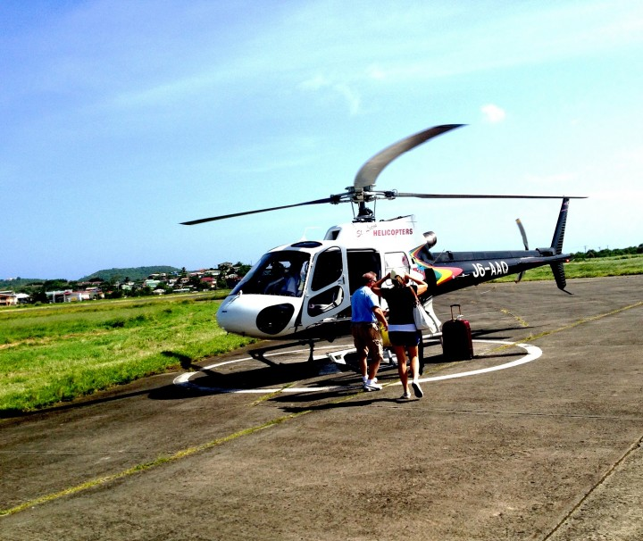 Getting-into-helicopter